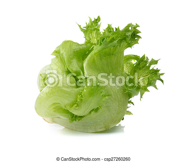 lettuce on white background - csp27260260