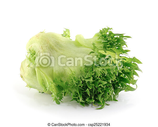 lettuce on white background - csp25221934