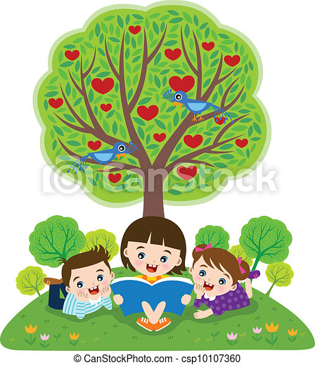 lettura, libri, bambini - csp10107360