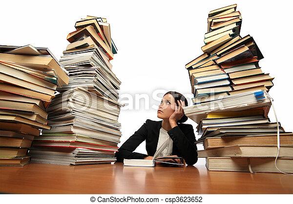 lettura ragazza, libro - csp3623652