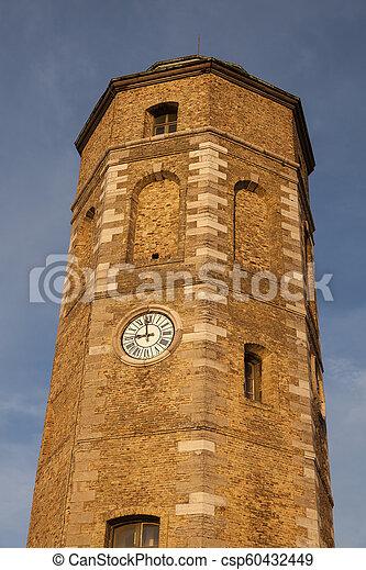 Leughenaer Tower in Dunkirk - csp60432449