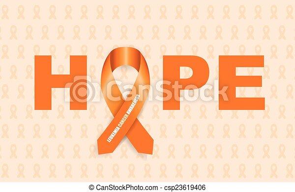 leukemia cancer awareness ribbon - csp23619406