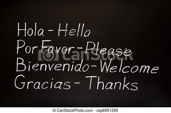 leur, anglaise, translations, mots, espagnol - csp6951295