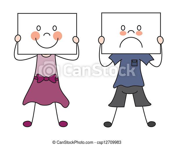 leur, projection, enfants, émotions - csp12709983