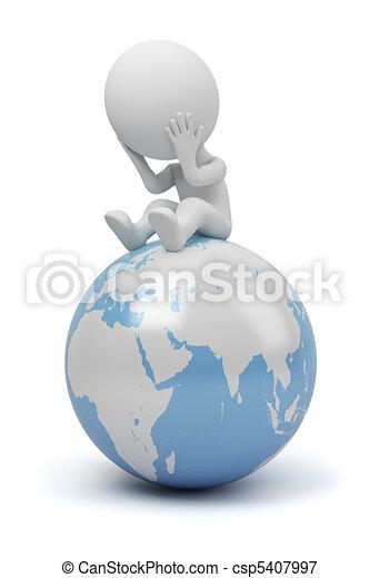 3d kleine Menschen - globale Frage - csp5407997