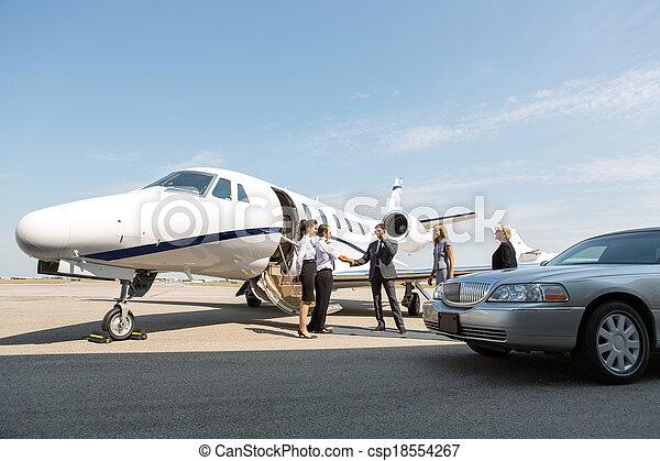 leute, gruß, terminal, airhostess, korporativ, pilot - csp18554267