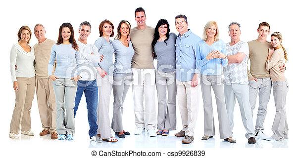 Eine Gruppe von Menschen. - csp9926839