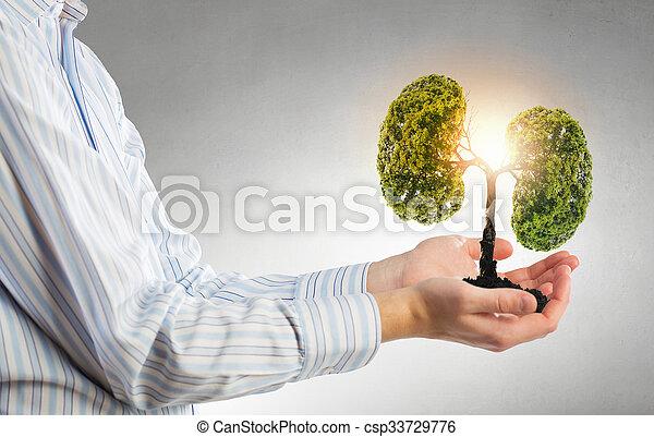 leven, bescherming, groene - csp33729776