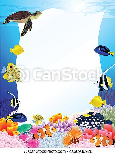 leven, leeg, achtergrond, zee, meldingsbord - csp6936926