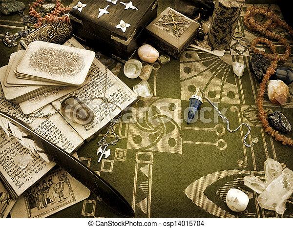 leven, nog, esoterisch, voorwerpen - csp14015704