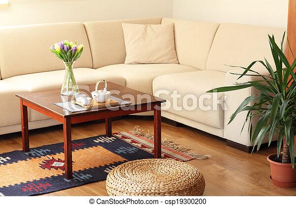 levend, cozy, kamer - csp19300200