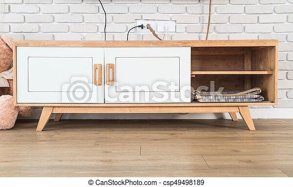 Tv In Muur : Levend geleide kamer tv muur tafel baksteen houten levend