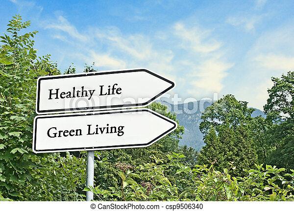 levend, leven, gezonde , groene, tekens & borden, straat - csp9506340