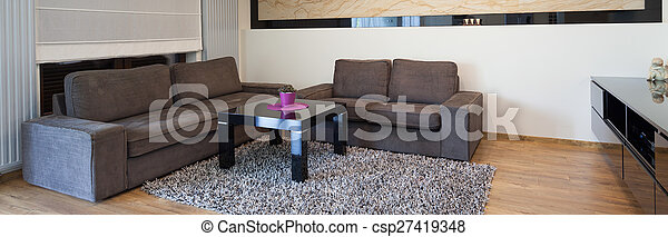 levend, ontworpen, kamer, tijdgenoot - csp27419348