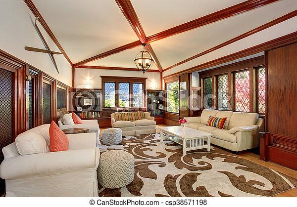 Levend plafond meubel kamer balken built in gewelfd luxe