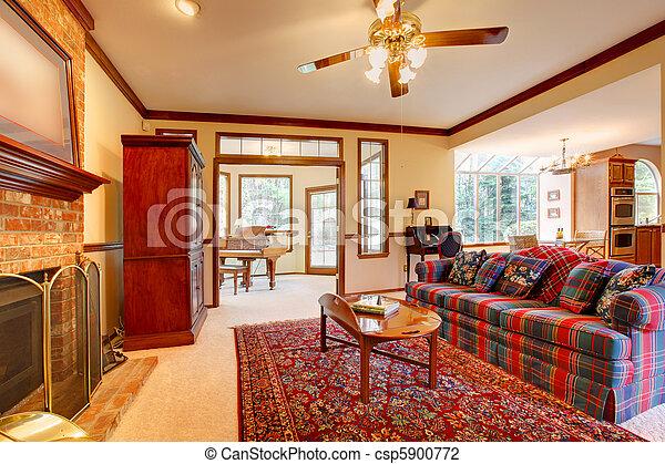 Levend stijl kamer engelse openhaard meubel