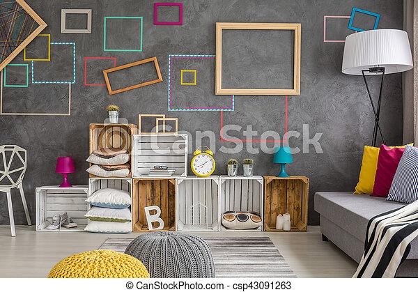 Levend volle kamer decoraties levend volle kamer kleurrijke