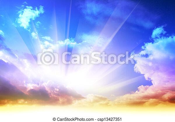 lever soleil coloré - csp13427351