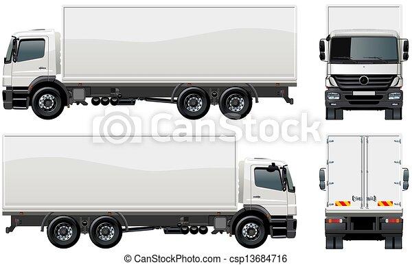 leverans, last transportera, / - csp13684716