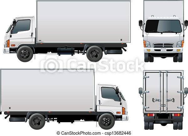 leverans, last transportera, / - csp13682446