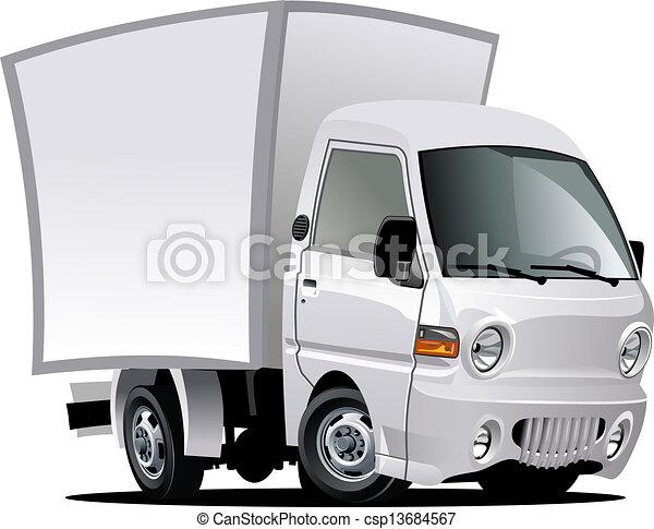 leverans, last transportera, tecknad film, / - csp13684567