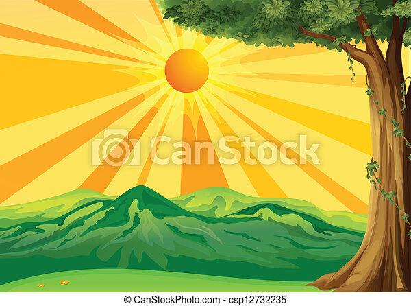 levers de soleil, vue - csp12732235