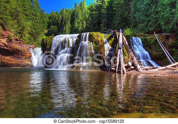 lewis, inférieur, rivière, chutes - csp15589120