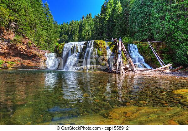 lewis, inférieur, rivière, chutes - csp15589121