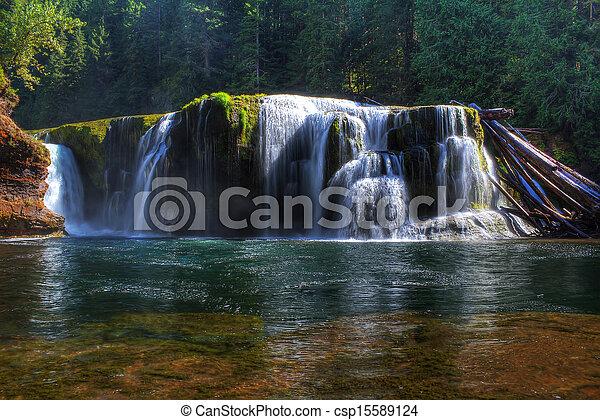 lewis, inférieur, rivière, chutes - csp15589124
