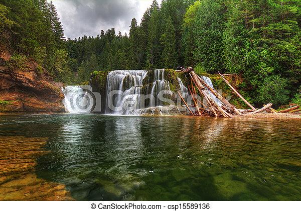 lewis, inférieur, rivière, chutes - csp15589136