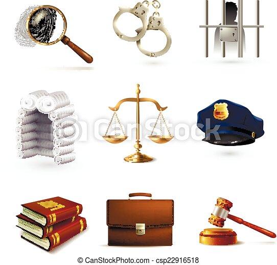 iconos legales establecidos - csp22916518