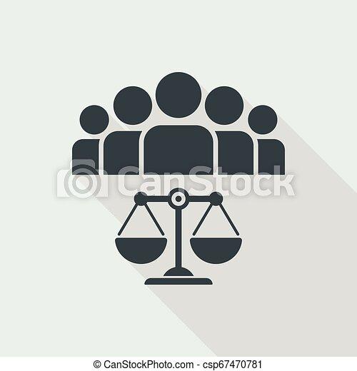 La ley es igual para todos - csp67470781