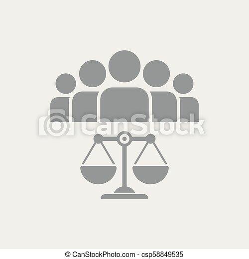 La ley es igual para todos - csp58849535