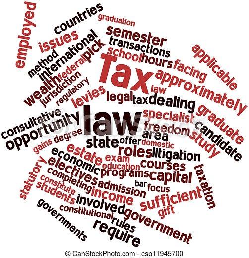 Ley de impuestos - csp11945700