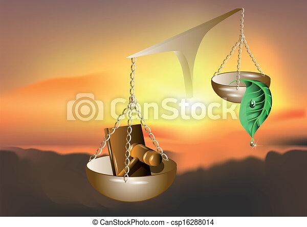 La naturaleza y la ley - csp16288014