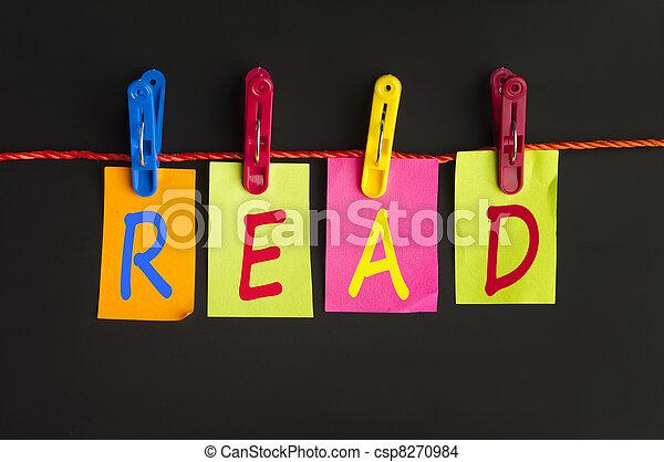 lezen, woord - csp8270984