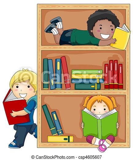 lezende , boekjes  - csp4605607