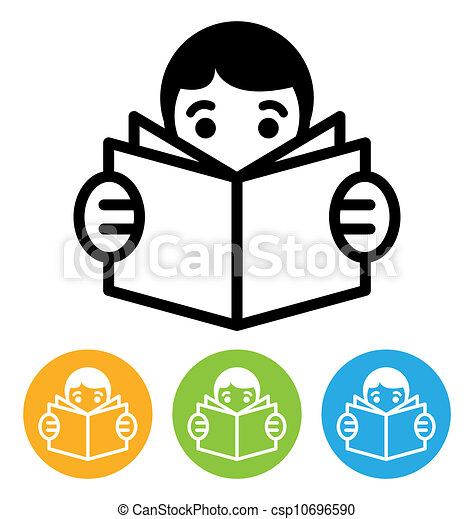 lezende , pictogram - csp10696590
