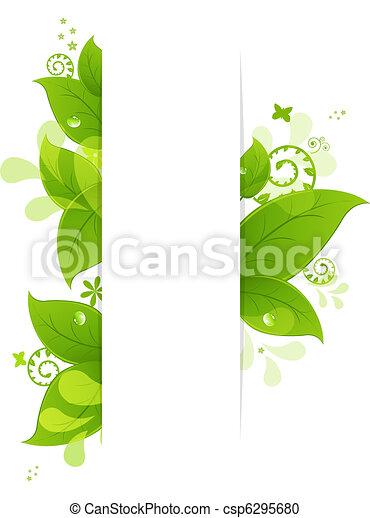 liście, krople, kasownik, tło - csp6295680