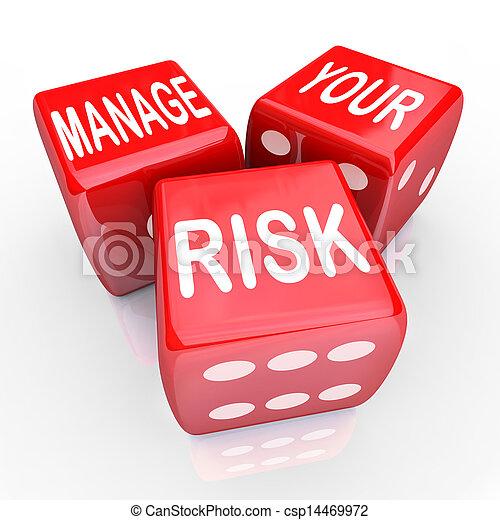 liabilities, dés, gérer, réduire, coûts, mots, ton, risque - csp14469972