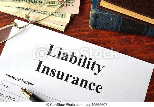 Liability insurance - csp40559607