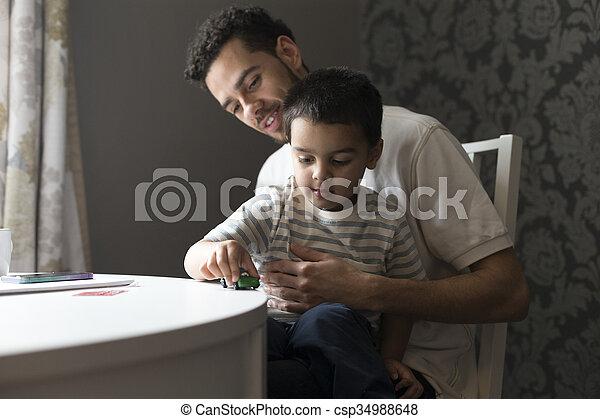 liaison, père, fils - csp34988648
