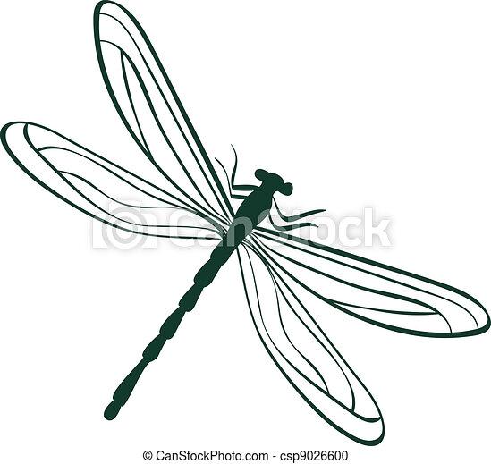 libélula, abstratos, vetorial, ilustração - csp9026600