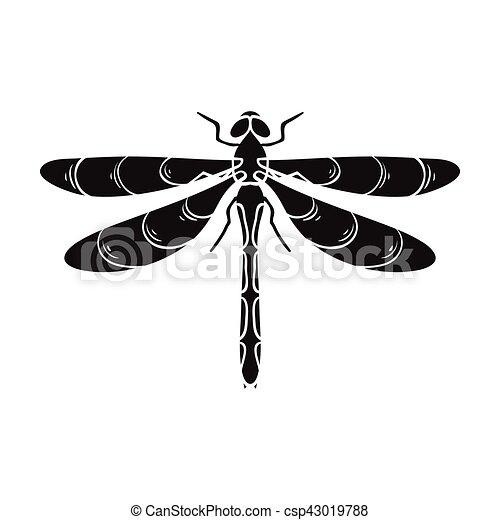 Libellule style illustration insectes symbole isol - Libellule dessin ...