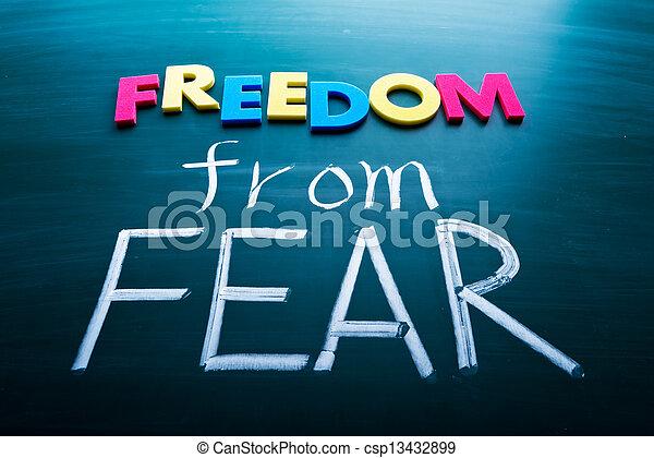 liberdade, medo - csp13432899