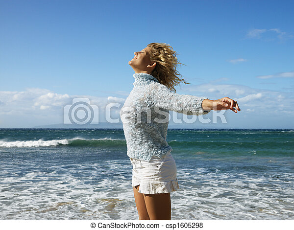 liberdade, mulher, desfrutando - csp1605298