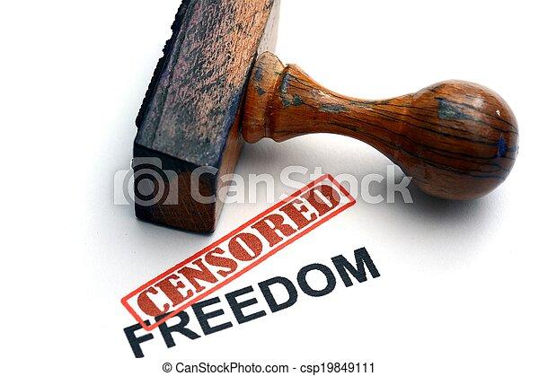 liberté, censuré - csp19849111