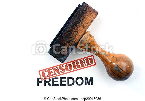 liberté, censuré - csp20015086