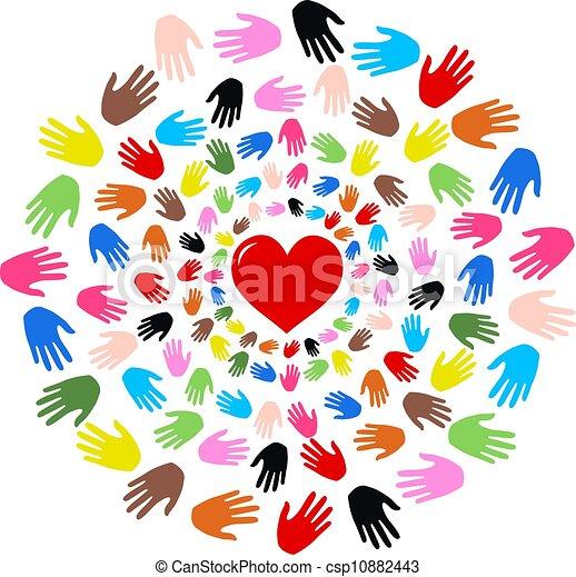 liberté, paix, amitié, amour - csp10882443