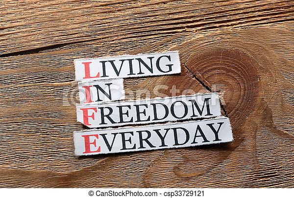 liberté, vie, inspiration - csp33729121